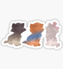 Kittens Inspired Silhouette Sticker