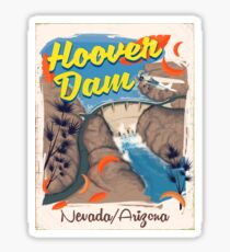 Hoover Dam Nevada/Arizona travel poster Sticker