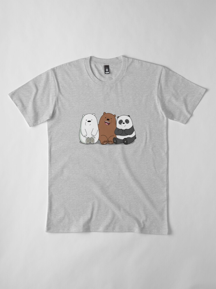 Alternative Ansicht von Wir Bare Bears Cartoon - Baby Bär Cubs - Grizz, Panda, Eisbär Premium T-Shirt