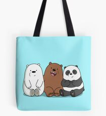 We Bare Bears Cartoon - Baby Bear Cubs - Grizz, Panda, Ice Bear Tote Bag