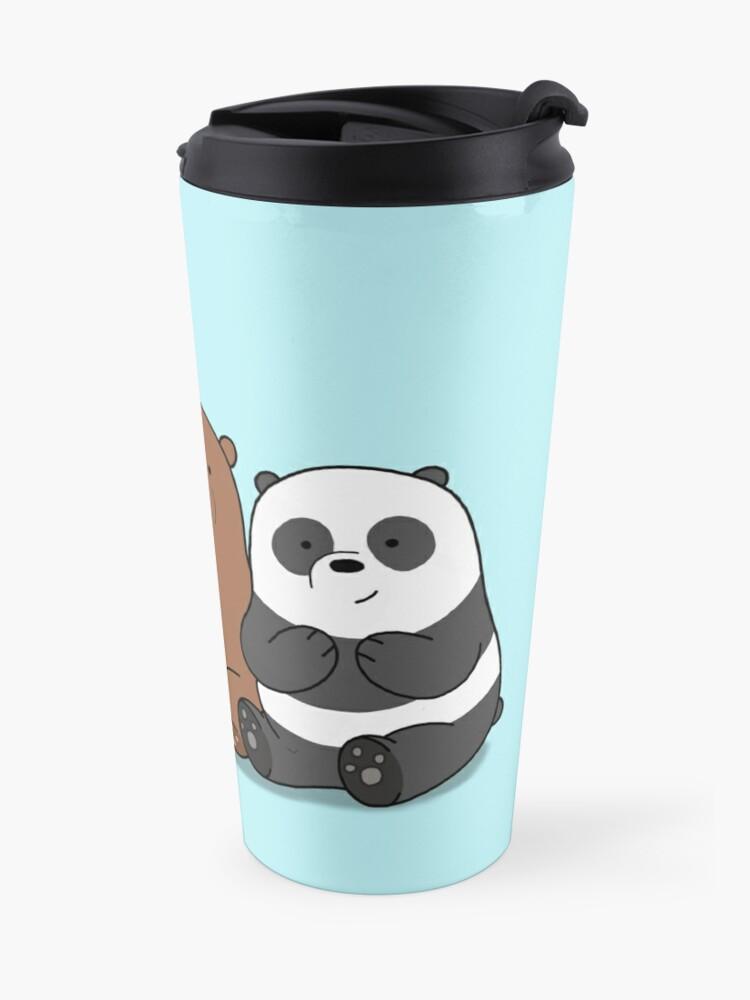Alternative Ansicht von Wir Bare Bears Cartoon - Baby Bär Cubs - Grizz, Panda, Eisbär Thermobecher