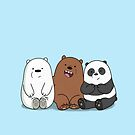 We Bare Bears Cartoon - Baby Bear Cubs - Grizz, Panda, Ice Bear by DomCowles12