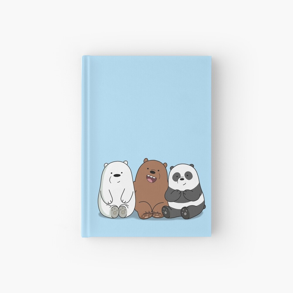 Wir Bare Bears Cartoon - Baby Bär Cubs - Grizz, Panda, Eisbär Notizbuch