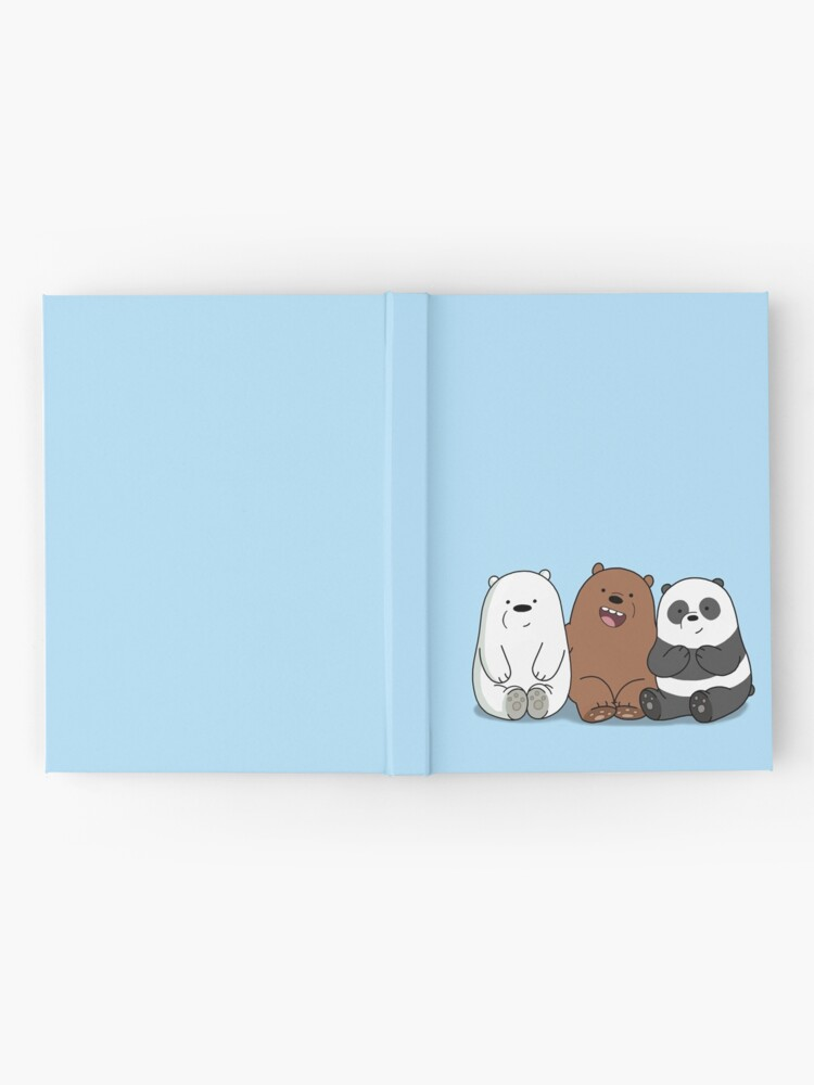 Alternative Ansicht von Wir Bare Bears Cartoon - Baby Bär Cubs - Grizz, Panda, Eisbär Notizbuch