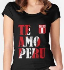 I love Peru - Te amo Peru T-shirt Women's Fitted Scoop T-Shirt