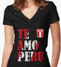 I love Peru - Te amo Peru T-shirt Women's Fitted V-Neck T-Shirt