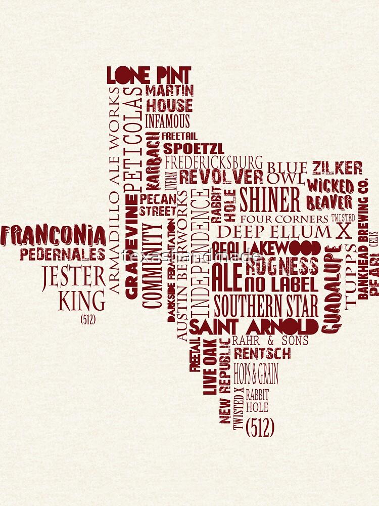 Texas Beer Lovers' Merch (red) for Oktoberfest by texashandmade