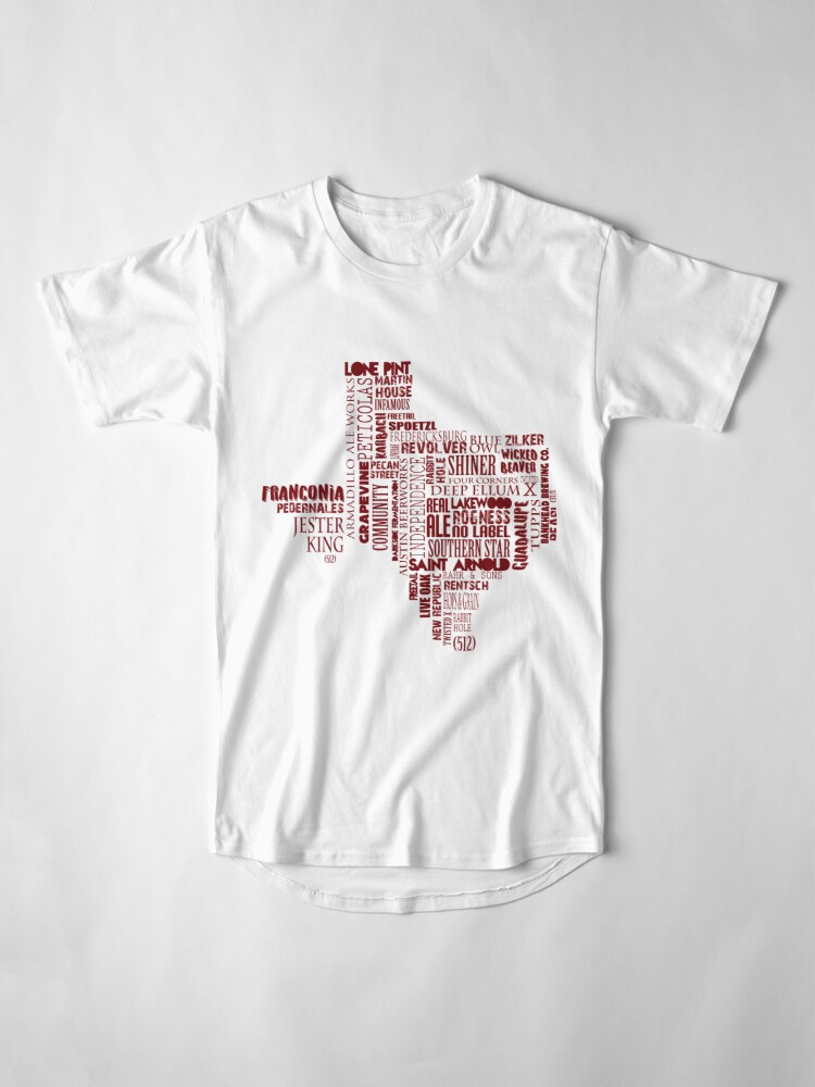 Alternate view of Texas Beer Lovers' Merch (red) for Oktoberfest Long T-Shirt