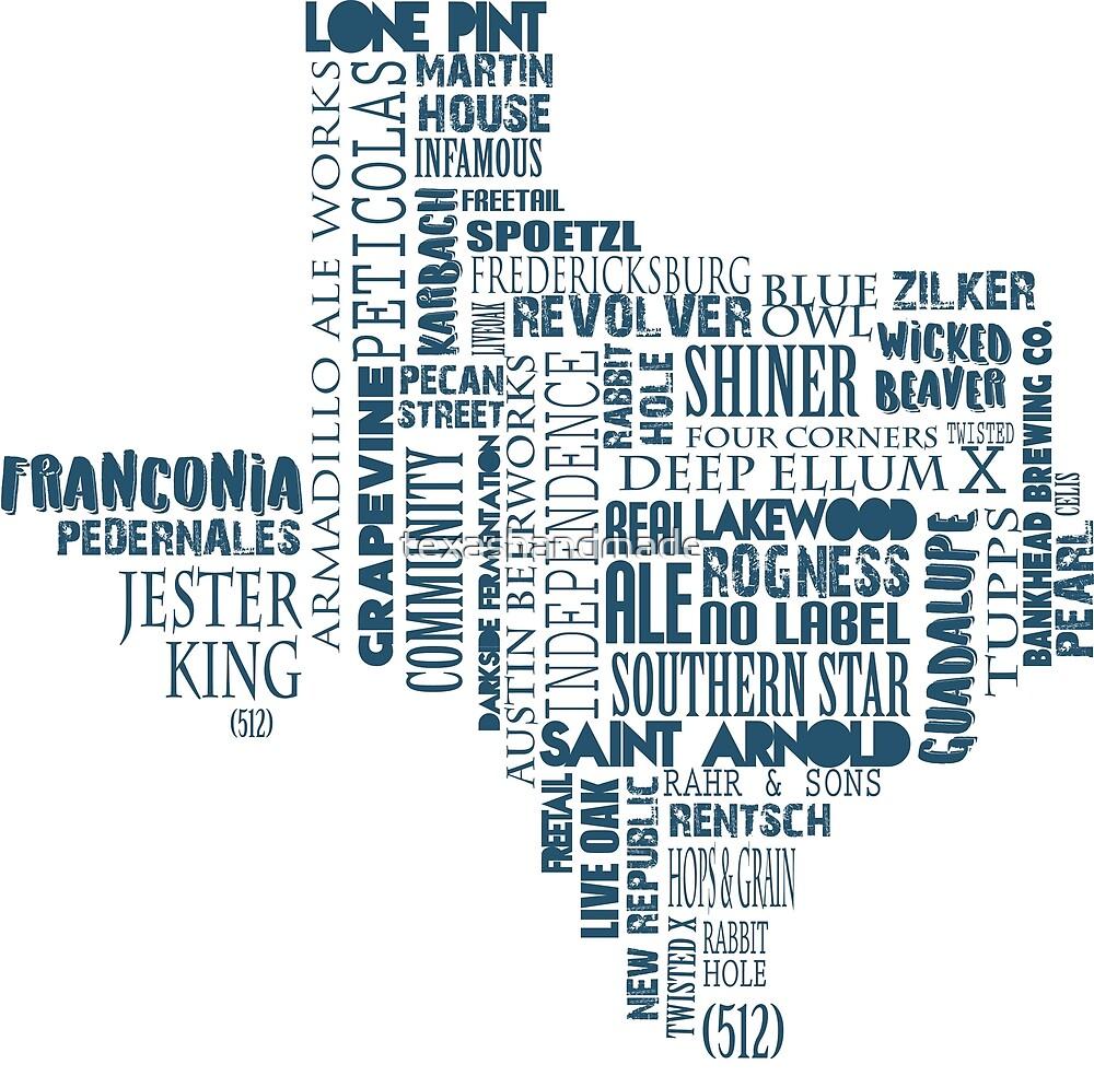 Texas Beer Lovers' Merch (blue) by texashandmade