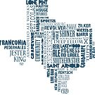 Texas Beer Lovers' Merch (blue) by texashandmade