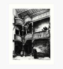 HD La vieille France, Bretagne ~ L'ancienne France, Bretagne 1890- Intérieur de maison à Morlaix Impression artistique