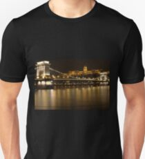 Buda Casle over the Chain Bridge Unisex T-Shirt