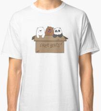 We Bare Bears Cartoon - Baby Bear Cubs Box - Grizz, Panda, Ice Bear Classic T-Shirt