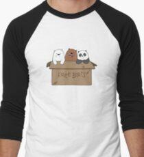 We Bare Bears Cartoon - Baby Bear Cubs Box - Grizz, Panda, Ice Bear Men's Baseball ¾ T-Shirt