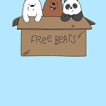 We Bare Bears Cartoon - Baby Bear Cubs Box - Grizz, Panda, Ice Bear by DomCowles12