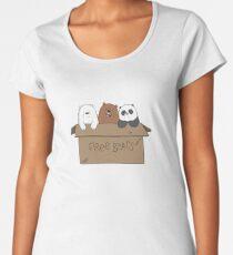 We Bare Bears Cartoon - Baby Bear Cubs Box - Grizz, Panda, Ice Bear Women's Premium T-Shirt