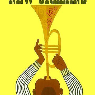 NEW ORLEANS ; Vintage Mardi Gras Print by posterbobs