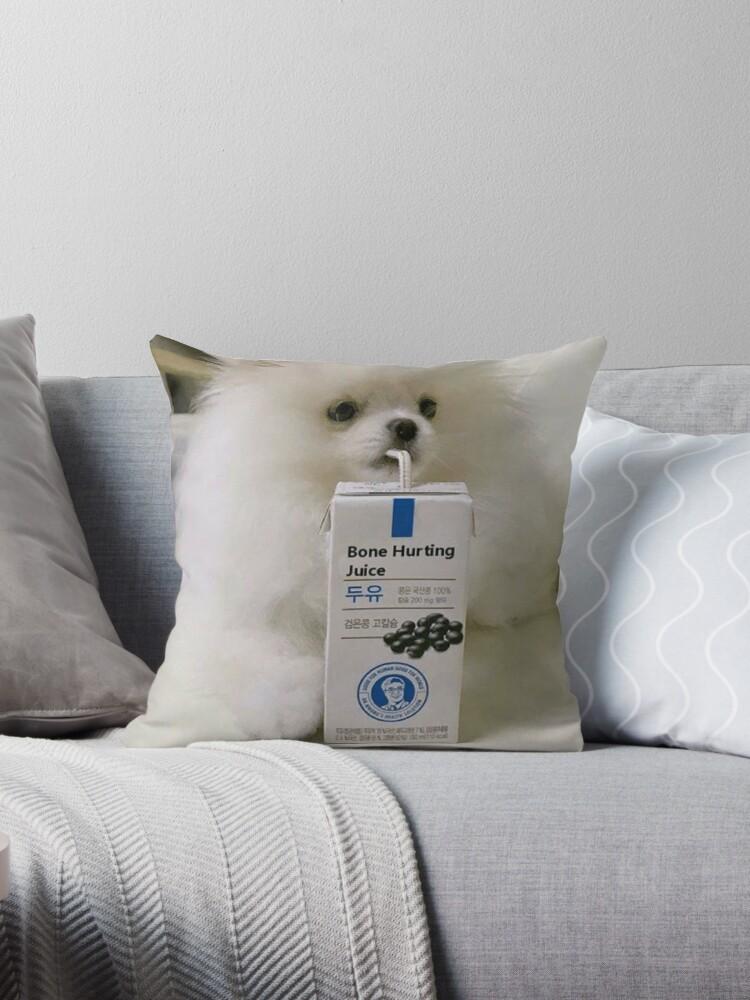 Bone Hurting Juice Meme Dog Throw Pillows By Balzac Redbubble