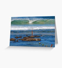 The Mystical Colours of the Surf - Bar Beach NSW Greeting Card