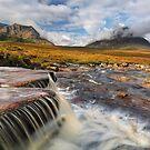 The Cauldron. Waterfall and Mist. Glencoe. Scotland. by PhotosEcosse