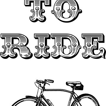 Live to ride cycling design by sledgehammer