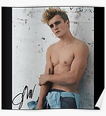 Signed Jake Paul Body Picture Poster