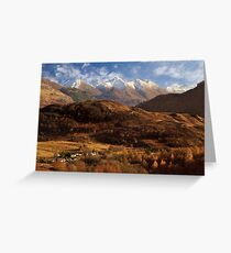 The Five Sisters of Kintail. North West Highlands of Scotland. Greeting Card