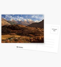 The Five Sisters of Kintail. North West Highlands of Scotland. Postcards