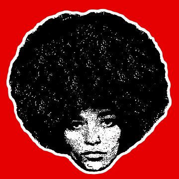 Angela Davis ~ Fight for your rights - Black version by mindthecherry
