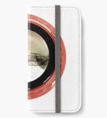 Circle Red iPhone Flip-Case/Hülle/Skin