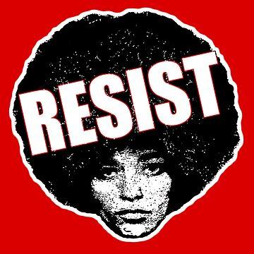 Angela Davis - Resist (black version) by mindthecherry