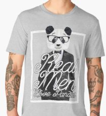 Real Men Love Pandas Cute Funny Panda Bear Design Men's Premium T-Shirt