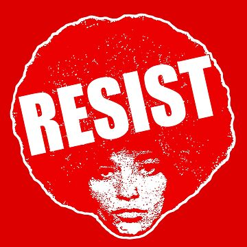 Angela Davis- Resist / Red version by mindthecherry