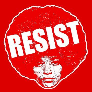 Angela Davis- Resist / Red version by mindthecherry
