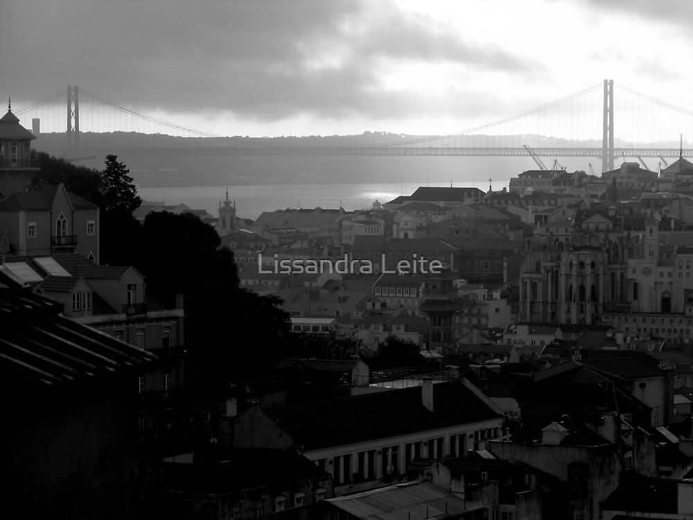 Lisbon In Black And White by Lissandra Leite