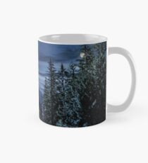 Spruce forest in High Tatras time concept Mug