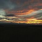 Sunset over Glasgow by dalzinho