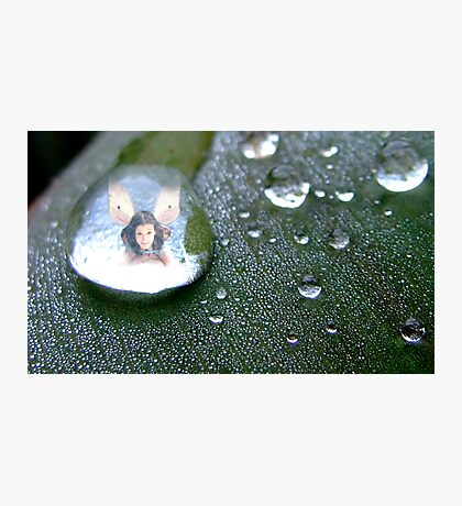 Fairy ina Raindrop Photographic Print