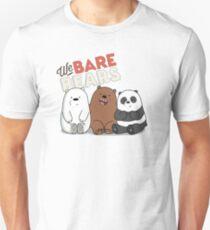 We Bare Bears Cartoon - Baby Bear Cubs - Grizz, Panda, Ice Bear - With Logo T-Shirt