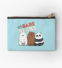 We Bare Bears Cartoon - Baby Bear Cubs - Grizz, Panda, Ice Bear - With Logo Studio Pouch