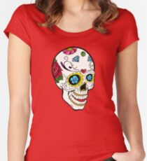 Mexicana Skull Women's Fitted Scoop T-Shirt