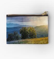 beautiful Carpathian panorama time concept Studio Pouch