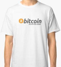 Bitcoin Accepted Here - Bitcoin Logo Classic T-Shirt
