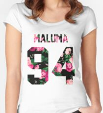 Maluma - Colorful Flowers Women's Fitted Scoop T-Shirt