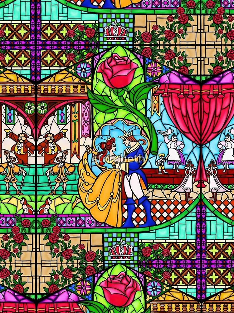 Muster des Buntglasfensters von storybeth