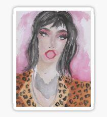 Adore Delano (Connie Francis vibes) Watercolour  Sticker