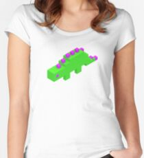 green dino Women's Fitted Scoop T-Shirt