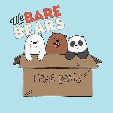 We Bare Bears Cartoon - Baby Bear Cubs Box - Grizz, Panda, Ice Bear - With Logo by DomCowles12