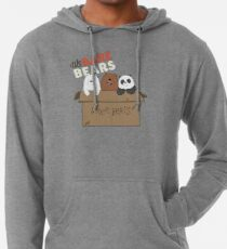 Wir Bare Bears Cartoon - Baby Bär Cubs Box - Grizz, Panda, Eisbär - mit Logo Leichter Hoodie
