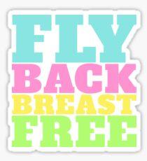 Fly Back Breast Freies Schwimmen IM Sticker